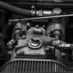 Carburetor under car bonnet